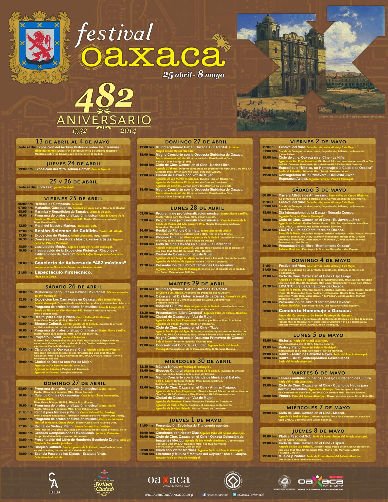 482 aniversario_Oaxaca_programa