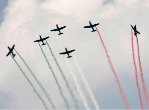 Demostración aérea oaxaca
