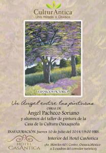 Un Ángel entre las pinturas, Exposición Pictórica.